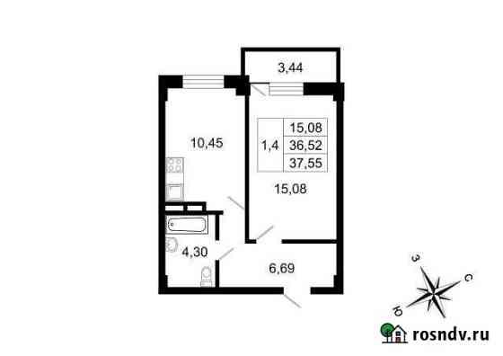 1-комнатная квартира, 37.6 м², 1/10 эт. Свердлова