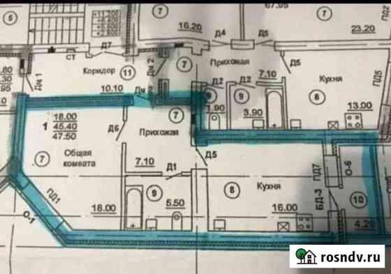 1-комнатная квартира, 47 м², 4/5 эт. Бор