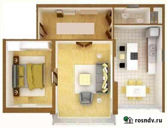 2-комнатная квартира, 48 м², 1/2 эт. Арамиль