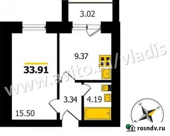 1-комнатная квартира, 34 м², 4/4 эт. Боголюбово
