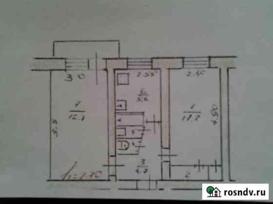 2-комнатная квартира, 43.2 м², 4/5 эт. Мышкин