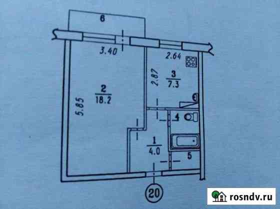 1-комнатная квартира, 35 м², 2/3 эт. Новоомский