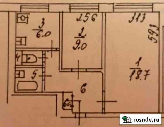 2-комнатная квартира, 44 м², 1/9 эт. Москва