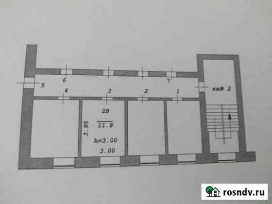 Комната 11.8 м² в > 9-ком. кв., 2/2 эт. Ангарск