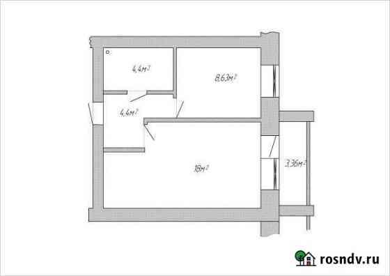 1-комнатная квартира, 35 м², 5/5 эт. Балакирево