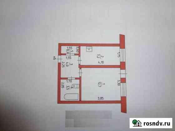 1-комнатная квартира, 28.3 м², 1/2 эт. Куеда