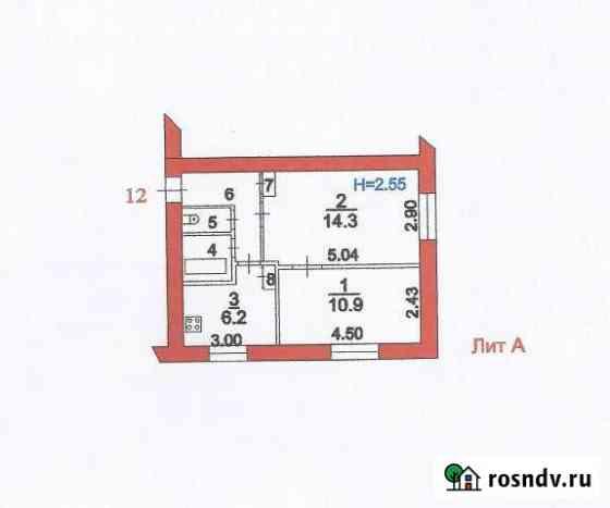 2-комнатная квартира, 40 м², 1/2 эт. Богородское