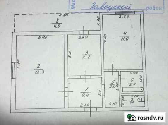 2-комнатная квартира, 51 м², 1/9 эт. Грозный