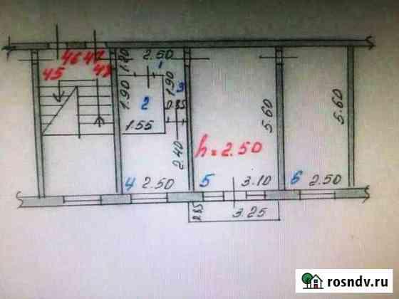 2-комнатная квартира, 44.5 м², 2/5 эт. Абакан