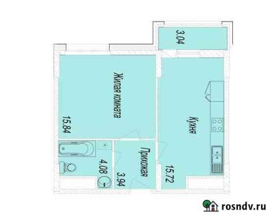 1-комнатная квартира, 41.1 м², 13/25 эт. Мытищи