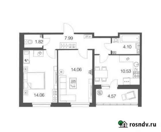 2-комнатная квартира, 52.2 м², 1/4 эт. Токсово
