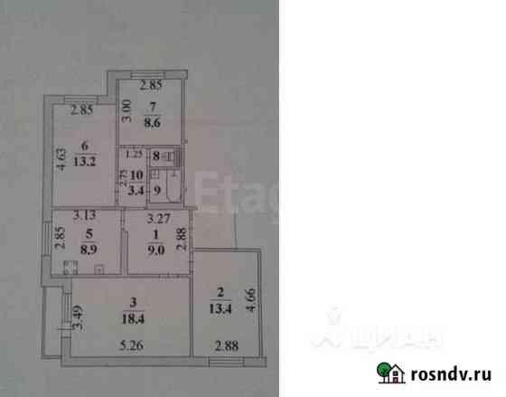 4-комнатная квартира, 77.7 м², 4/10 эт. Липецк