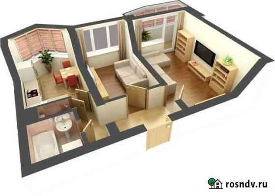 2-комнатная квартира, 48 м², 3/5 эт. Дятьково