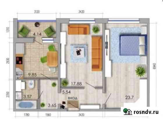 2-комнатная квартира, 66.3 м², 12/18 эт. Воронеж