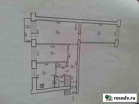 3-комнатная квартира, 65.3 м², 2/2 эт. Тверь