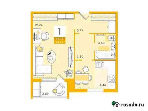 1-комнатная квартира, 44 м², 2/10 эт. Саратов