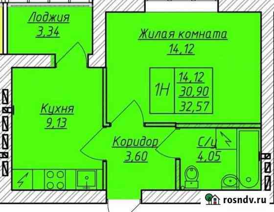 1-комнатная квартира, 33 м², 4/9 эт. Стерлитамак