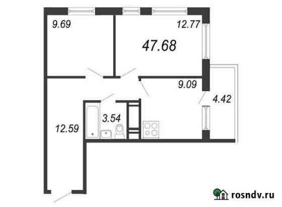 2-комнатная квартира, 47.7 м², 8/11 эт. Санкт-Петербург