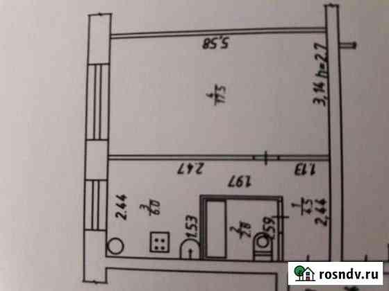 1-комнатная квартира, 31 м², 1/2 эт. Таруса