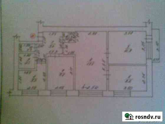 4-комнатная квартира, 60 м², 5/5 эт. Борисовка