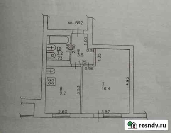 1-комнатная квартира, 33 м², 1/3 эт. Пижанка