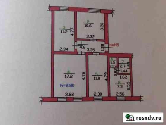 4-комнатная квартира, 66 м², 1/2 эт. Ливны