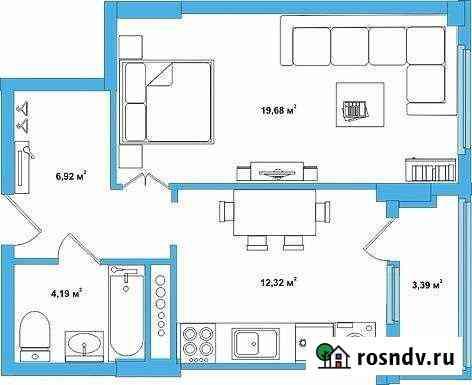 1-комнатная квартира, 45 м², 2/17 эт. Кохма
