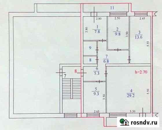 4-комнатная квартира, 85.7 м², 4/5 эт. Сосновый Бор