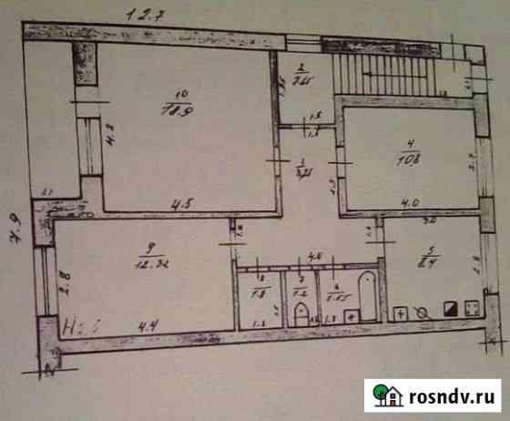 3-комнатная квартира, 78.4 м², 2/2 эт. Красногвардейское