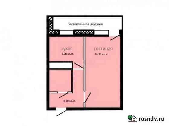 1-комнатная квартира, 34.5 м², 10/17 эт. Улан-Удэ