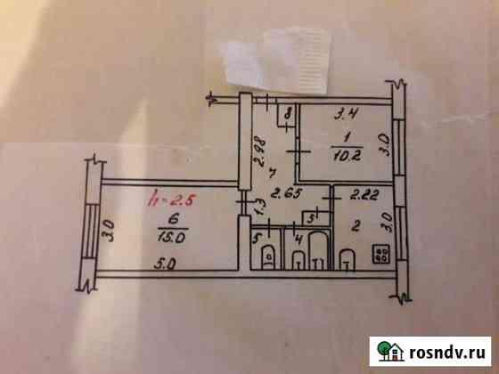 2-комнатная квартира, 43.6 м², 3/3 эт. Воркута