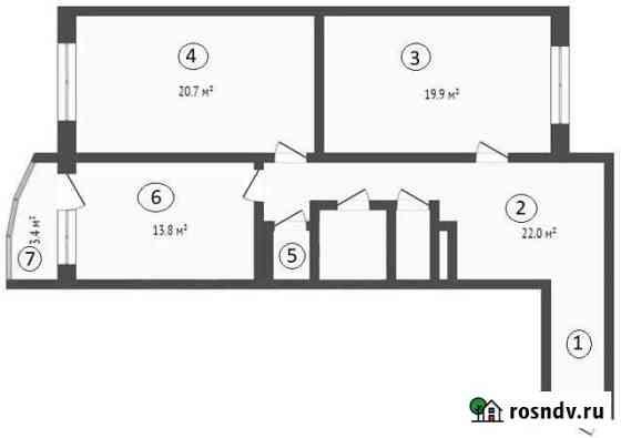 2-комнатная квартира, 84 м², 10/18 эт. Свердлова