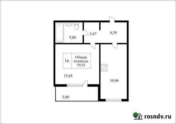 1-комнатная квартира, 39.9 м², 2/4 эт. Томск