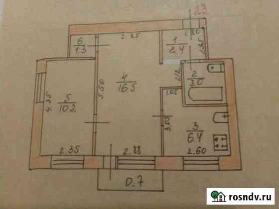 2-комнатная квартира, 39 м², 3/3 эт. Старая Русса