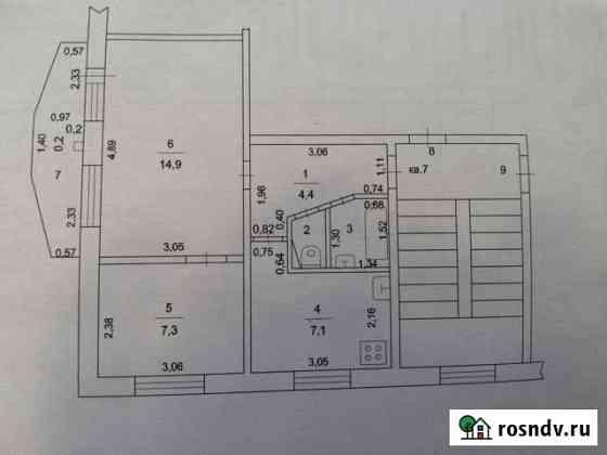 2-комнатная квартира, 36.5 м², 3/5 эт. Яхрома