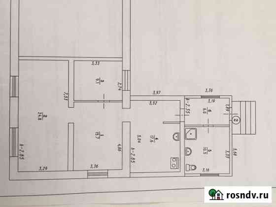Дом 83.7 м² на участке 12 сот. Калачинск