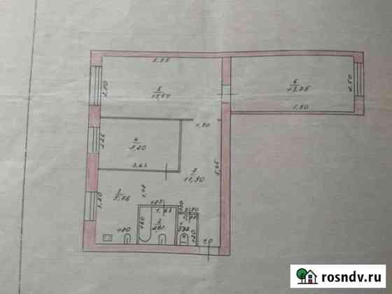 3-комнатная квартира, 62.3 м², 2/2 эт. Шилово