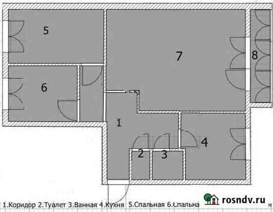 3-комнатная квартира, 64 м², 3/3 эт. Алексеевское