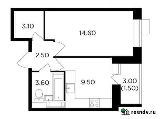 1-комнатная квартира, 34.8 м², 8/11 эт. Пушкино