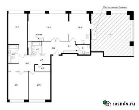 4-комнатная квартира, 172.7 м², 20/20 эт. Москва
