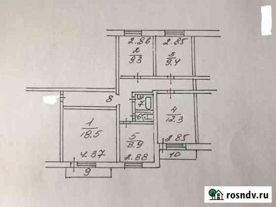 4-комнатная квартира, 78.5 м², 4/9 эт. Нововоронеж