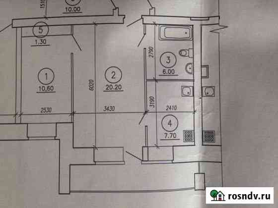 2-комнатная квартира, 46 м², 3/10 эт. Курган