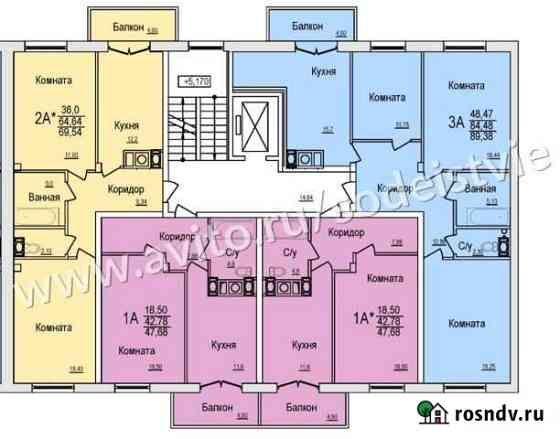 2-комнатная квартира, 70 м², 4/10 эт. Смоленск