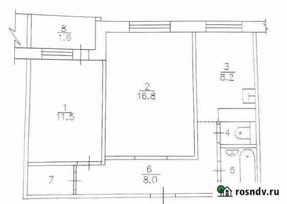 2-комнатная квартира, 50 м², 4/9 эт. Сосновоборск