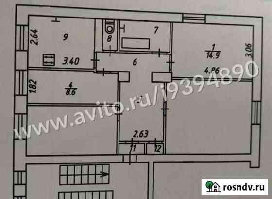 Комната 23.5 м² в 2-ком. кв., 2/3 эт. Калуга