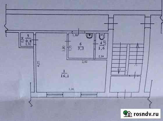 1-комнатная квартира, 23 м², 1/5 эт. Новокуйбышевск
