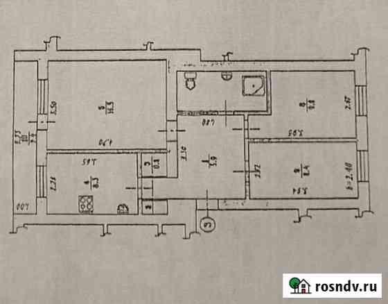 3-комнатная квартира, 53.1 м², 1/2 эт. Называевск