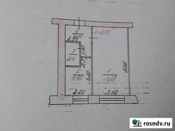 1-комнатная квартира, 32 м², 3/3 эт. Красногорский