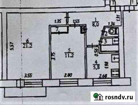 2-комнатная квартира, 50 м², 5/5 эт. Обнинск