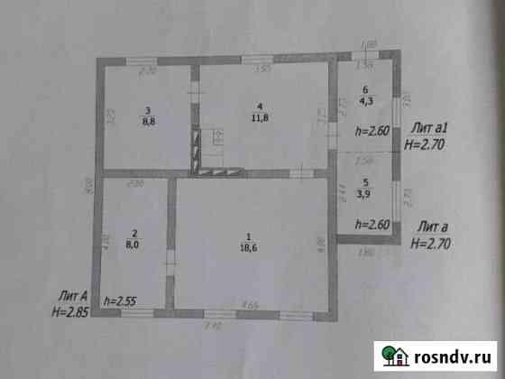 Дом 60 м² на участке 20 сот. Крымск